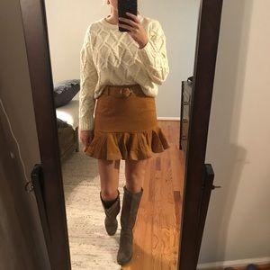 NWT Forever 21 Mustard Belted Skirt Size Medium